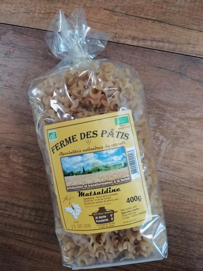 Pâtes de la Ferme des Pâtis, à Cambrée